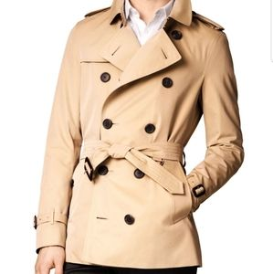 Burberry mens Kensington trench coat